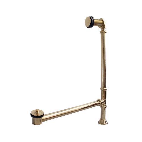 Pivoting Leg Tub Drain - Polished Brass