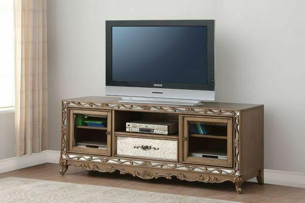 ACME Orianne TV Stand - 91433 - Antique Gold