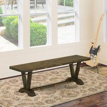 15x60 in Dining Bench with Distressed Jacobean 418 Leg and Distressed Jacobean 418 Top finish