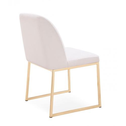 VIG Furniture - Modrest Muir - Modern White Sherpa Dining Chair