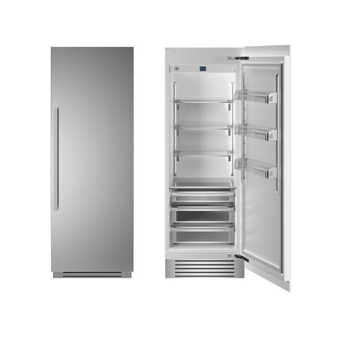 "30"" Built-in Refrigerator column - Stainless - Right hinge"
