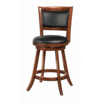 See Details - Transitional Chestnut Swivel Counter Stool