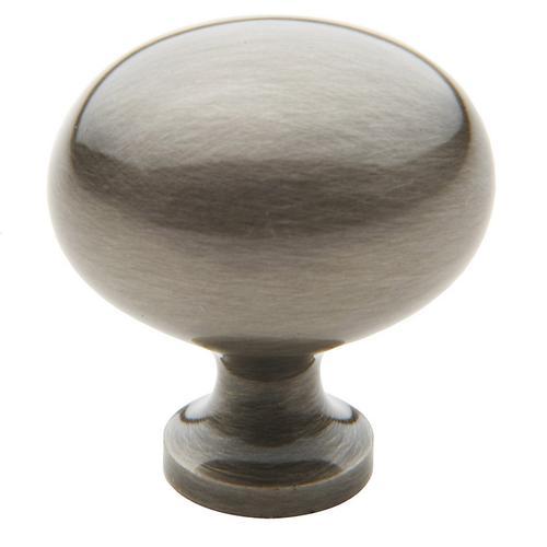 Antique Nickel Oval Knob