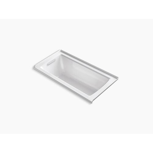 "Thunder Grey 60"" X 30"" Alcove Bath With Bask Heated Surface, Integral Flange and Left-hand Drain"