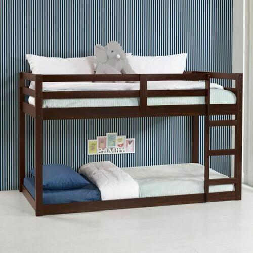 ACME Gaston Loft Bed - 38185 - Contemporary - Wood (Solid Pine) - Espresso