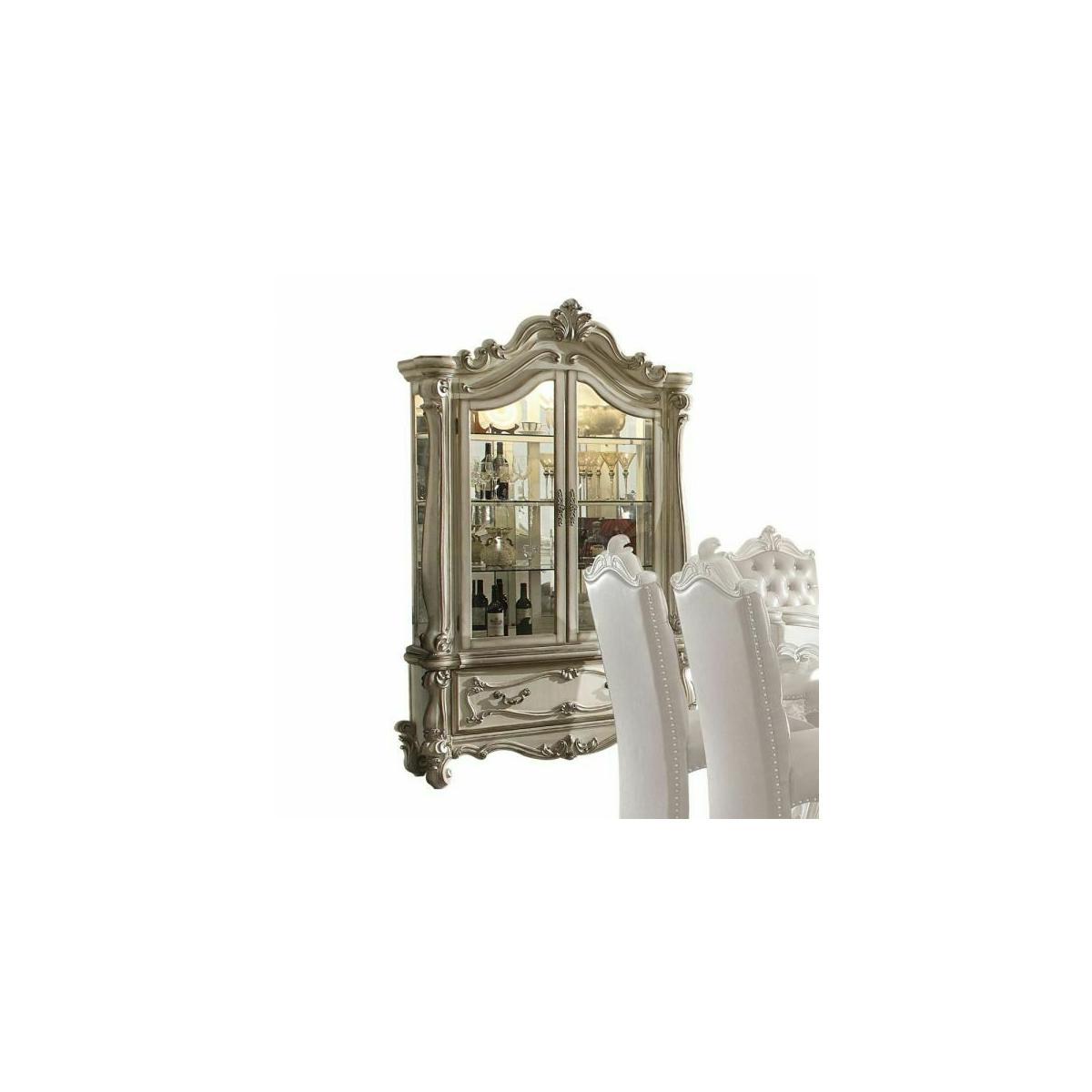 ACME Versailles Curio Cabinet - 61153 - Bone White