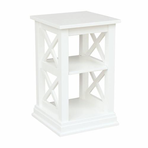 Hampton Accent Table in Pure White