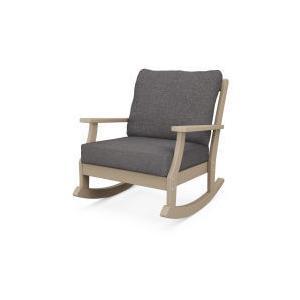 Polywood Furnishings - Braxton Deep Seating Rocking Chair in Vintage Sahara / Ash Charcoal