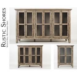 "Rustic Shores Watch Hill Weathered Grey 70"" Accent Cabinet"