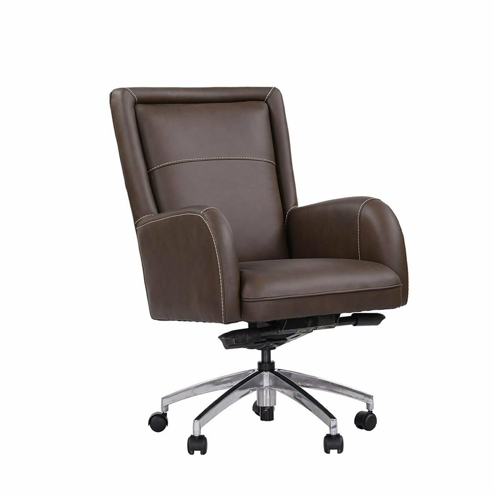 DC#130-COCOA - DESK CHAIR Leather Desk Chair
