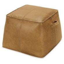 See Details - Birks Large Leather Ottoman