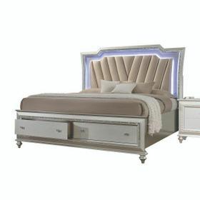ACME Kaitlyn California King Bed - 27224CK - PU & Champagne