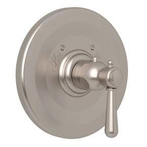 Verona Thermostatic Trim Plate without Volume Control - Satin Nickel with Metal Lever Handle