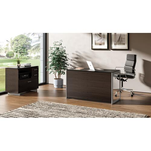 BDI Furniture - Sequel 20 6108 Compact Desk Back Panel in Charcoal Stained Ash