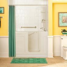 Acrylic Luxury Series 32x60 Air Bath Walk-in Tub with Tub Filler, Right Drain  American Standard - Linen