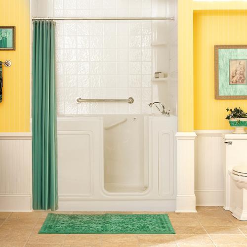 American Standard - Acrylic Luxury Series 32x60 Air Bath Walk-in Tub with Tub Filler, Right Drain  American Standard - Linen