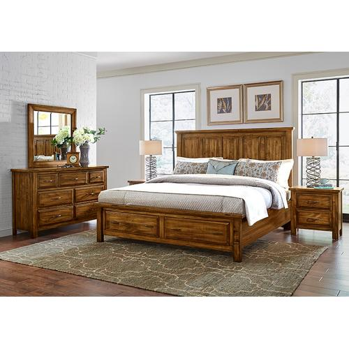 King Mansion Bed with Storage Footboard