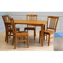 See Details - Laminate Top Rectangular Table and Solid Oak Chairs