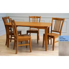 Laminate Top Rectangular Table and Solid Oak Chairs