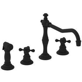 Flat Black Kitchen Faucet with Side Spray