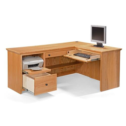 S641-DL-P Shaker Desk & S640-LR Shaker Return