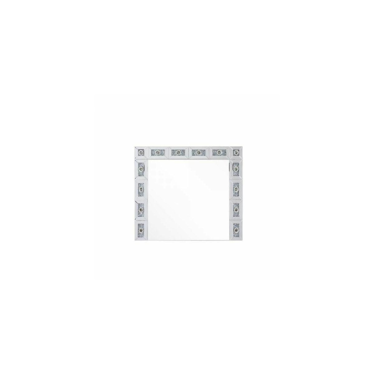 ACME Noralie Wall Decor - 97746 - Glam - LED Light, Mirror, Glass, MDF, Faux Diamonds (Acrylic) - Mirrored and Faux Diamonds
