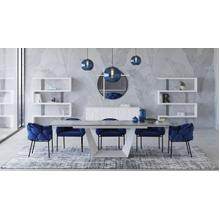 View Product - Modrest Baldwin - Modern White Ceramic Extendable Dining Table