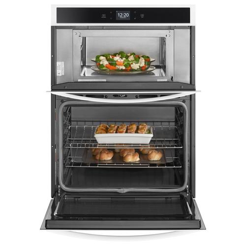 Whirlpool - 6.4 cu. ft. Smart Combination Wall Oven with Touchscreen White