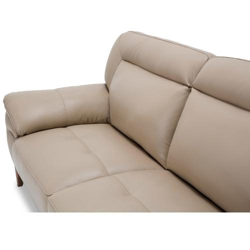 Turano Leather Match Loveseat