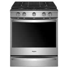 See Details - 5.8 cu. ft. Smart Slide-in Gas Range with EZ-2-Lift™ Hinged Cast-Iron Grates