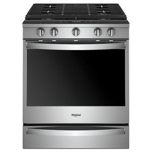 5.8 cu. ft. Smart Slide-in Gas Range with EZ-2-Lift™ Hinged Cast-Iron Grates
