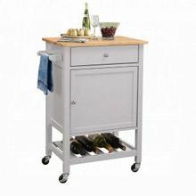 ACME Hoogzen Kitchen Cart - 98300 - Natural & Gray