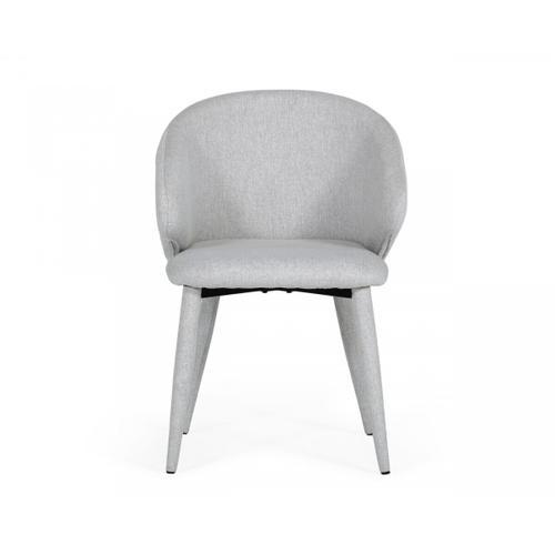 Gallery - Modrest Keller - Modern Light Grey Dining Chair (Set of 2)