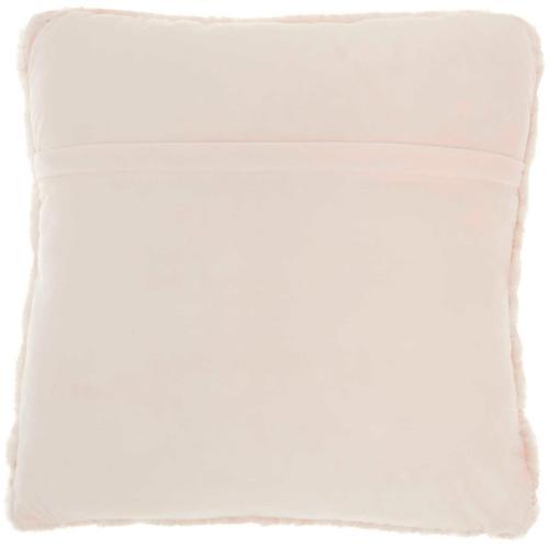 """Faux Fur Sn101 Blush 20"""" X 20"""" Throw Pillow"""