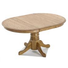 See Details - Classic Oak Chestnut Solid Pedestal Table