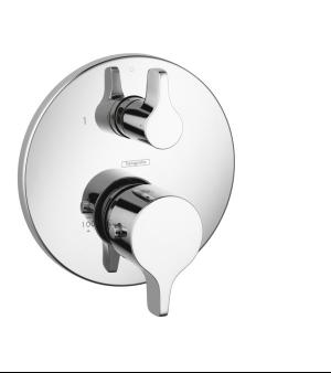 Chrome Thermostatic Trim S/E with Volume Control and Diverter Product Image
