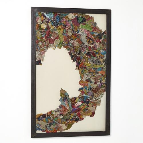 See Details - Kantha C Abstract Design w/Metal Frame