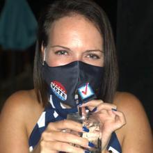 See Details - Happy Hour Reusable Face Mask VOTE Design