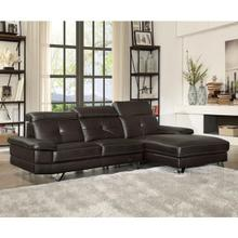 AERYN BROWN PU SECTIONAL SOFA