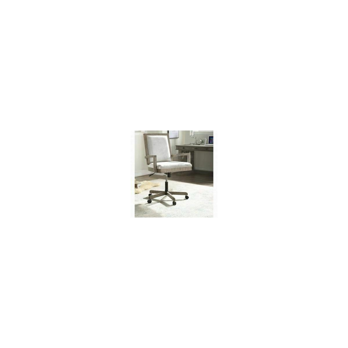 ACME Artesia Executive Office Chair - 92320 - Fabric & Salvaged Natural