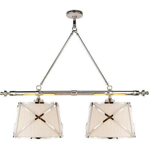 Visual Comfort - E. F. Chapman Grosvenor 4 Light 51 inch Polished Nickel Linear Pendant Ceiling Light