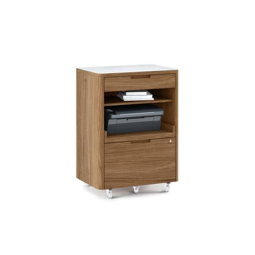 6717 Multifunction Cabinet in Natural Walnut Satin White