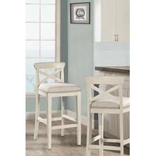See Details - Bayview Wood X-back Non-swivel Counter Stool - White Wirebrush