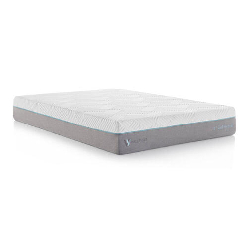 Wellsville 11 Inch Gel Memory Foam Hybrid Mattress Split Cal King