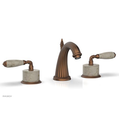 VALENCIA Widespread Faucet Beige Marble K338D - Antique Copper