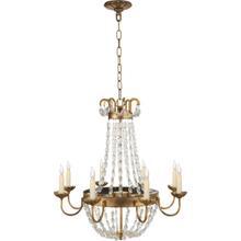 View Product - E F Chapman Paris Flea Market 8 Light 24 inch Gilded Iron Chandelier Ceiling Light
