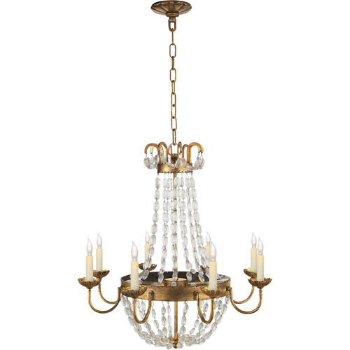 Visual Comfort - E F Chapman Paris Flea Market 8 Light 24 inch Gilded Iron Chandelier Ceiling Light
