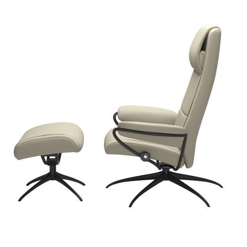 Stressless By Ekornes - Stressless® Paris Star High back Chair with Ottoman