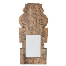 """Product Image - Approx. 25""""W x 10""""D Found Hand-Carved Wood Bannister Moulding Wall Mirror (Each Varies)"""