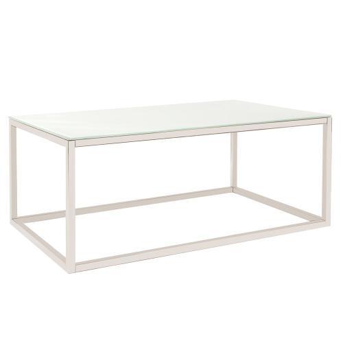 Howard Elliott - Rectangular Stainless Steel Coffee Table - White